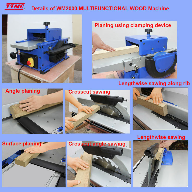 TTMC WM2000 multipurpose woodworking machine