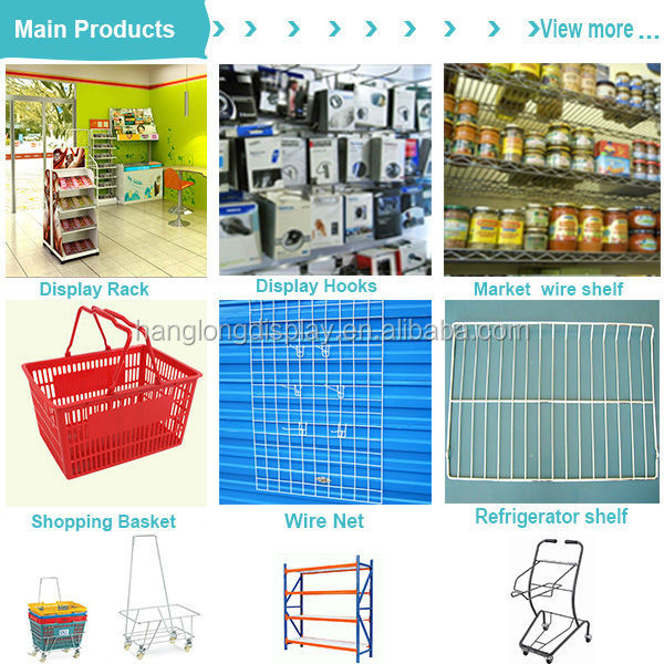 White Adjustable Metal wire dump bin rack for shop HL089