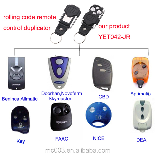 Replacement Original Beninca Remote Control 433.92mhz