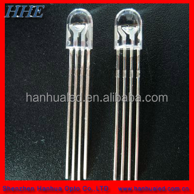 color changing 5mm round multicolor RGB led diode common cathode