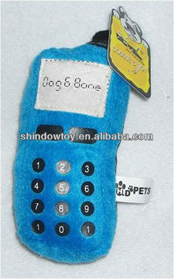 New design Plush squeaky pet toys mobile phone