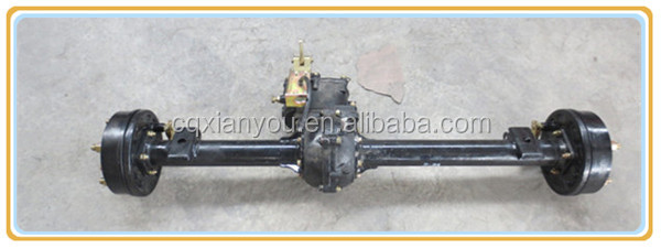 Two speed tricycle rear axle with high performance