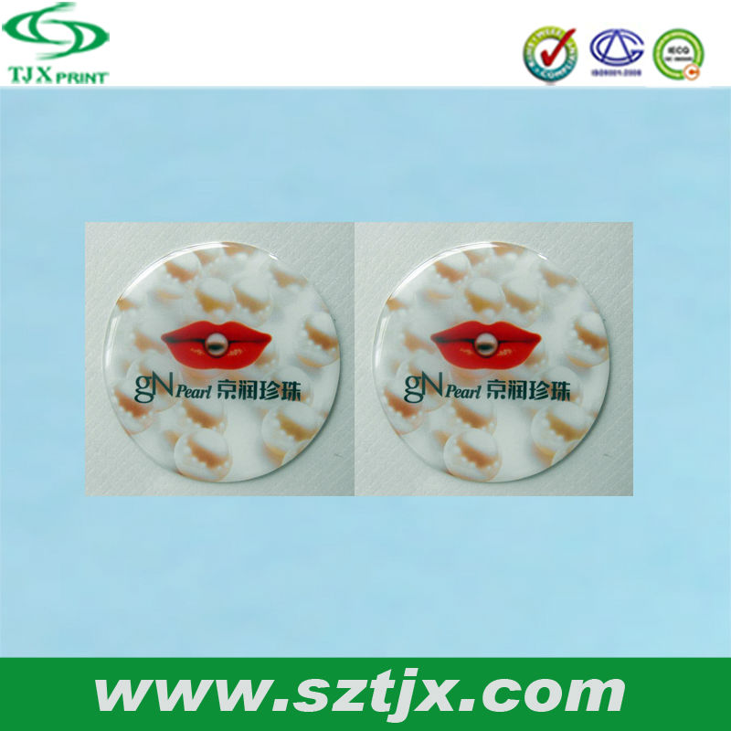 custom epoxy resin doming stickers
