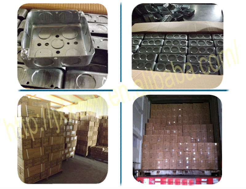 2014HOT SALES electrical galvanized steel 4x4 metal box