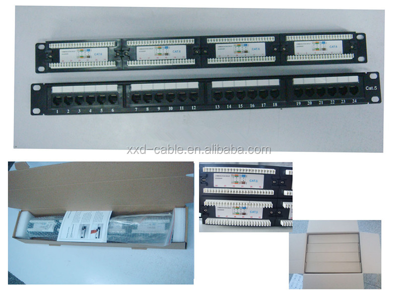 24 Port CAT5e 110-IDC UTP PATCH PANEL from 12 years professional factory