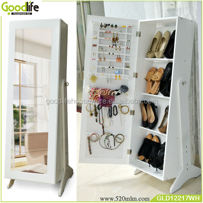 Stylish design in book shelf cabinet with dressing mirror