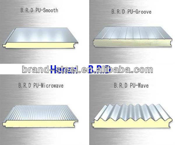 Sandwich Roof Construction : Insulated wall polyurethane foam sandwich panel thailand