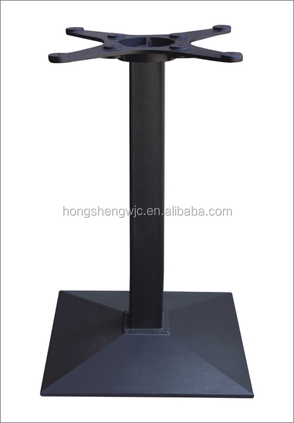 hsa058 multilayer shape square metal table leg cast iron table base furniture part outdoor