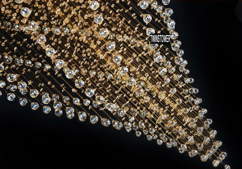 modern large luxury hotel lobby amber k9 crystal chandelier