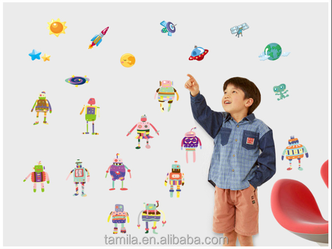 alien robort removeable wall stickers