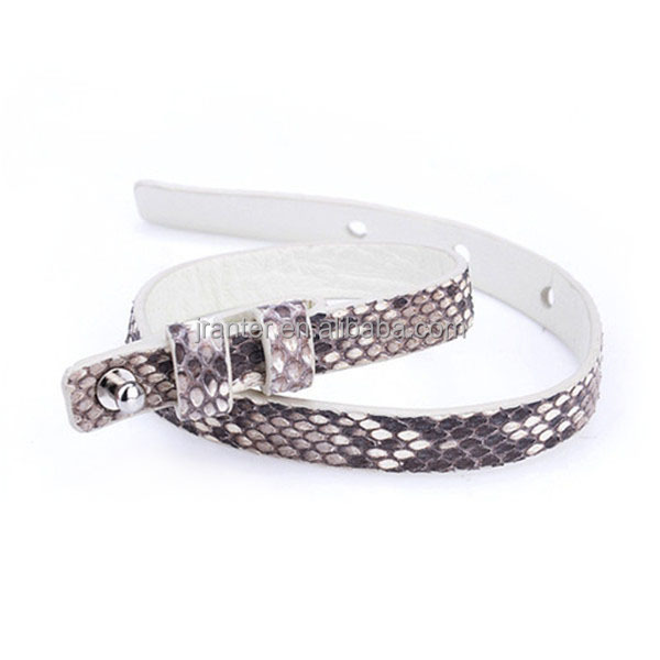 Handmade Python Snake Leather Bracelet Custom Fashion Women Bracelet