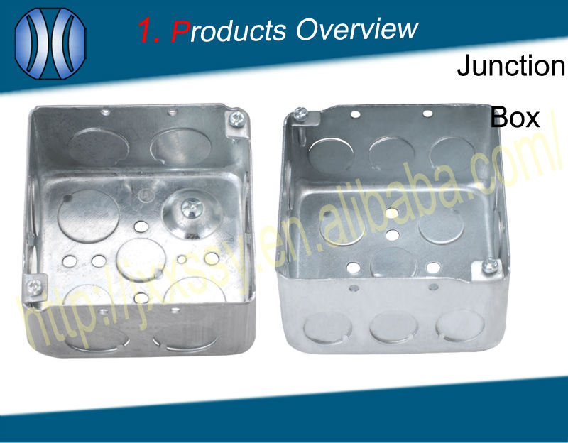 Hot selling galvanized steel 4*4 square outdoor electrical cable tv junction box