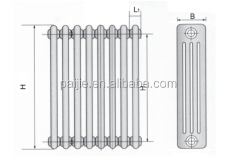 Pioneer decorative 4 pole Steel heating radiator/steel radiators for hot water heating system
