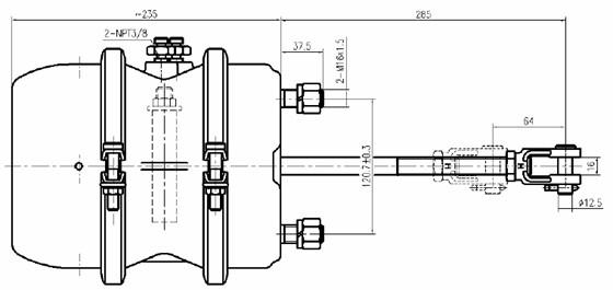 saf trailer air brake system single  double brake chamber