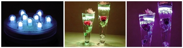 3aaa Battery Operated 10 Led Rgb Light Base Waterproof Under Vase Light - Buy Under Vase Light ...