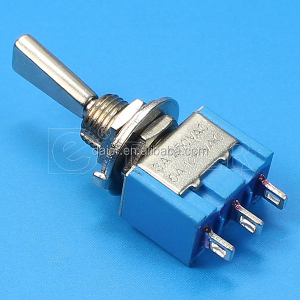 MTS-103-F1 3A 250VAC ON-OFF-ON 3 pin metal flat handle toggle switch