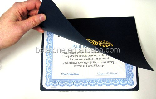 Colorful Gold Foil Stamp Leather A5/A4 Diploma Holder Certificate Cover Case