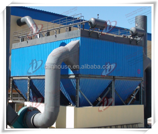 Gas tank pulse blowing dust collector