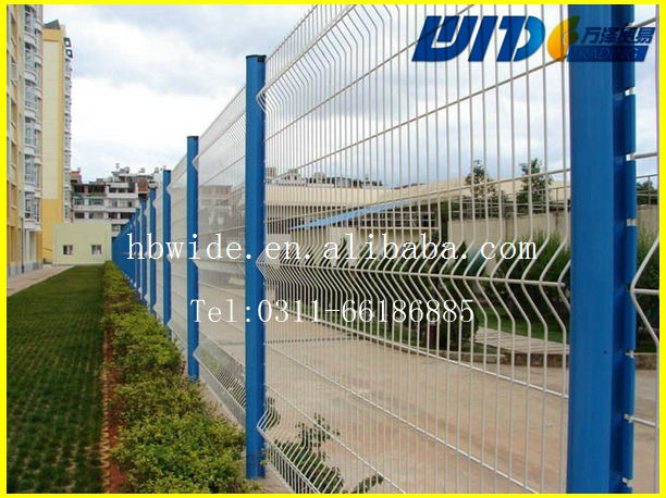 High quality best price urvy welded fence/galvanized&pvc coated curvy welded fence / curvy welded fence