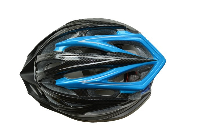 In mold bicycle helmet with visor