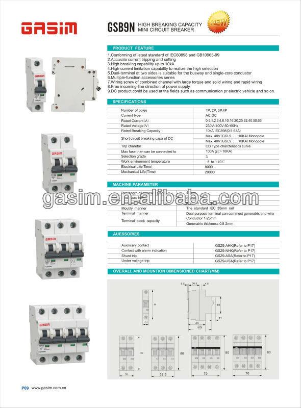 20 amp miniature circuit breaker mcb, View circuit breaker mcb ...