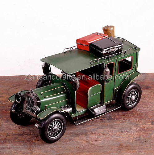 Handmade classic metal craft model car for cafe bar decorations