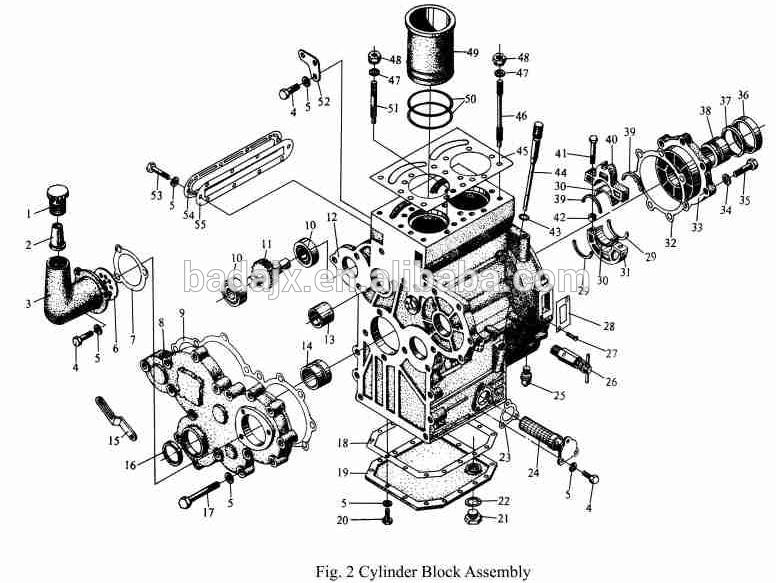 Jinma Tractor TY295 Diesel Engine Parts 1892811347 on ford fuel system diagrams