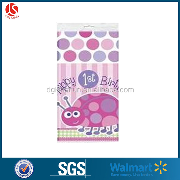 cartoon ladybug factory plastic tablecloth for birthday party