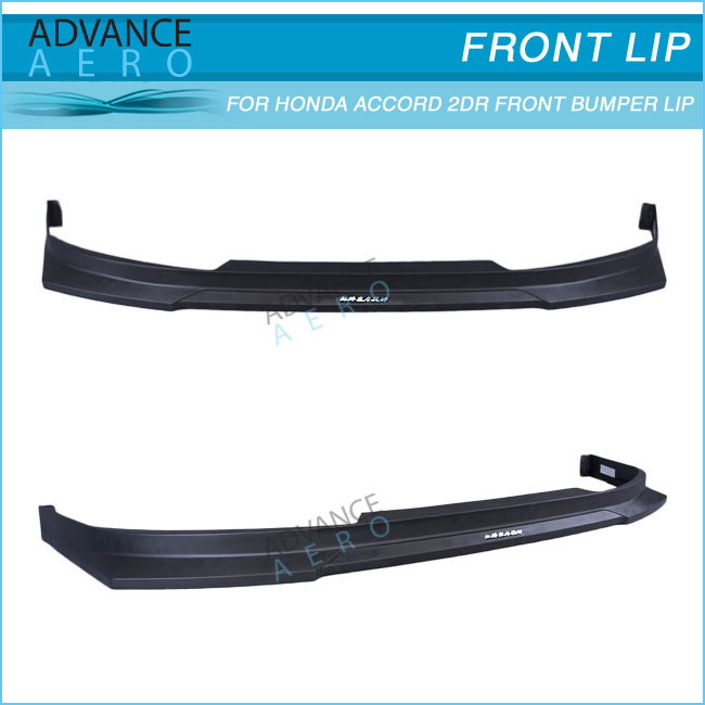 FOR 06-07 HONDA ACCORD 2 DOOR HC1 STYLE POLYPROPYLENE PP FRONT BUMPER LIP SPOILER