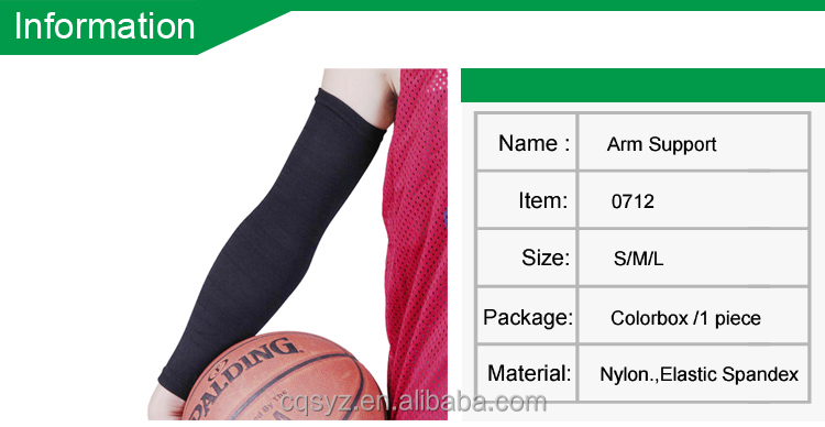 cool China customized basketball arm sleeves wholesale Spandex Folding Arm Support sports elastic sun protective arm sleeves