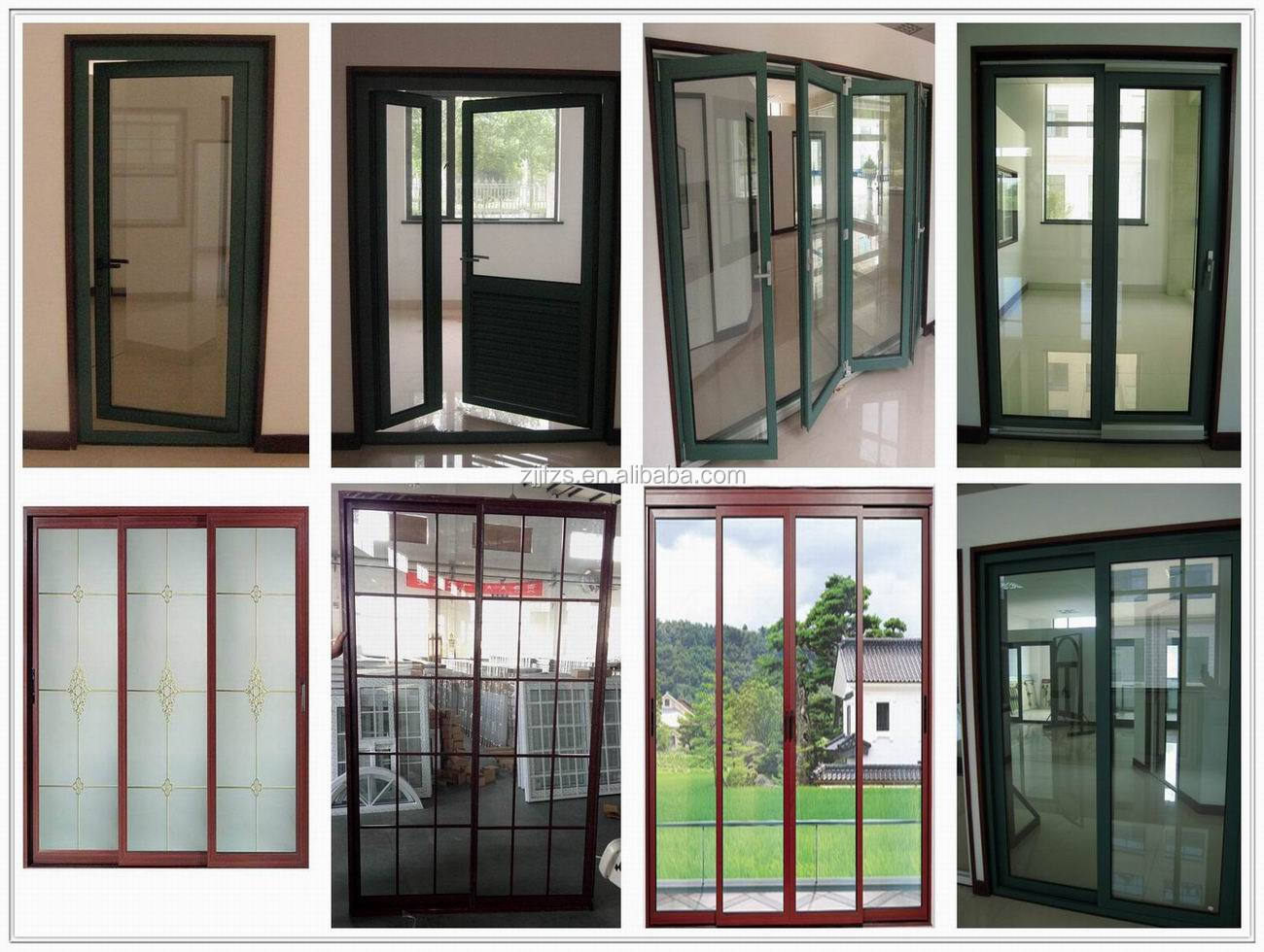 Aluminum exterior sliding doors made in china balcony door for Triple french doors exterior
