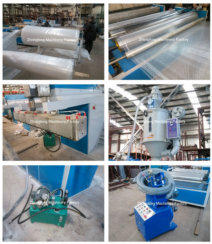 New PE bubble sheet making machine