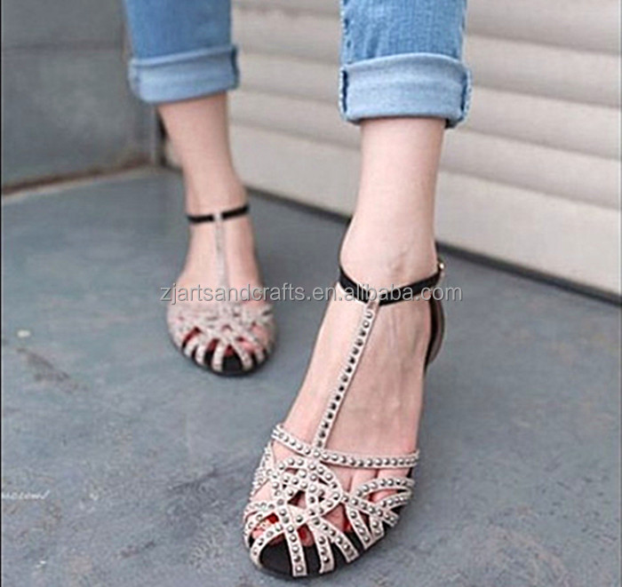 2015 Wholesale fashion flat sandal shoe shoes for women