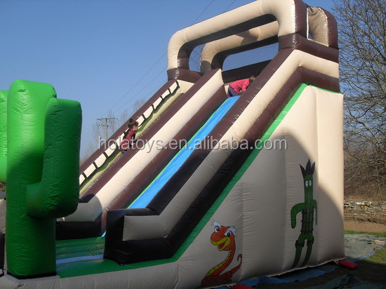 Hola giant inflatable water slide/big inflatable water slide with inflatable pool