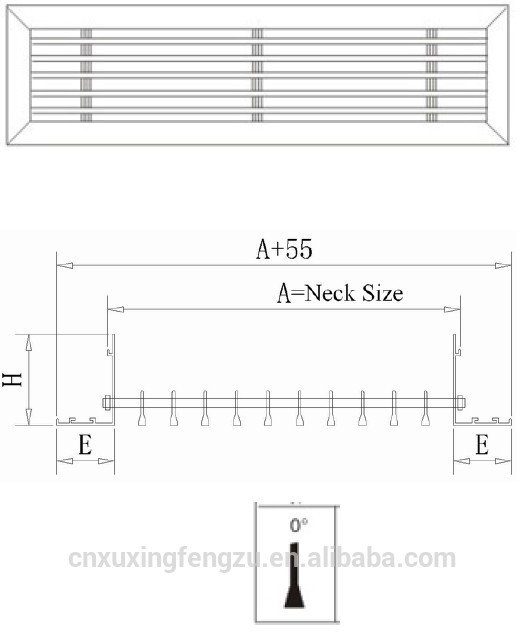 Air ventilation linear pvc louver windows buy pvc louver - Grille ventilation fenetre pvc ...