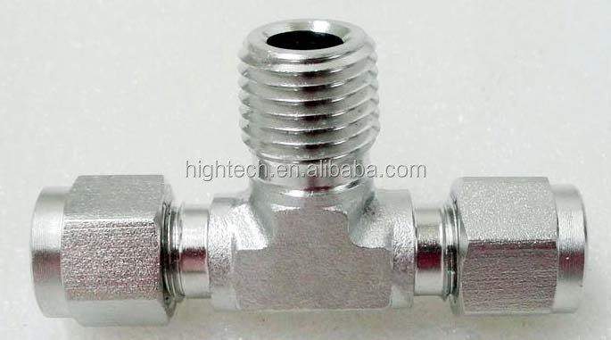 Double Ferrule Stainless Steel 316 Tube Fitting Female Branch Tee