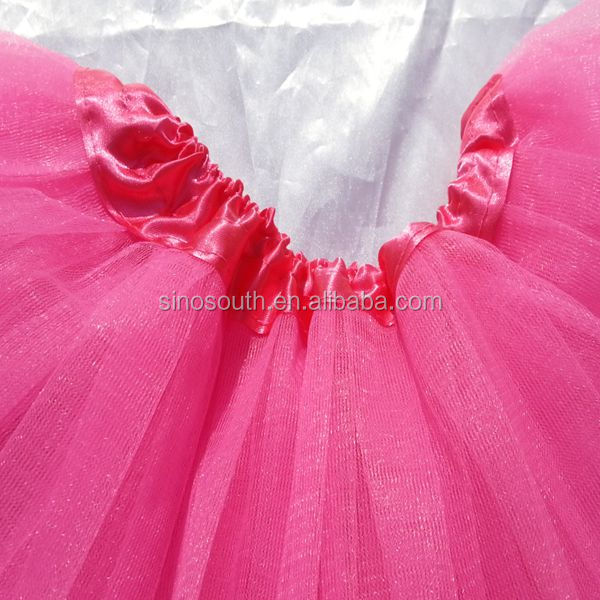2016 kids pink princess party ballet tulle fluffy tutu skirt