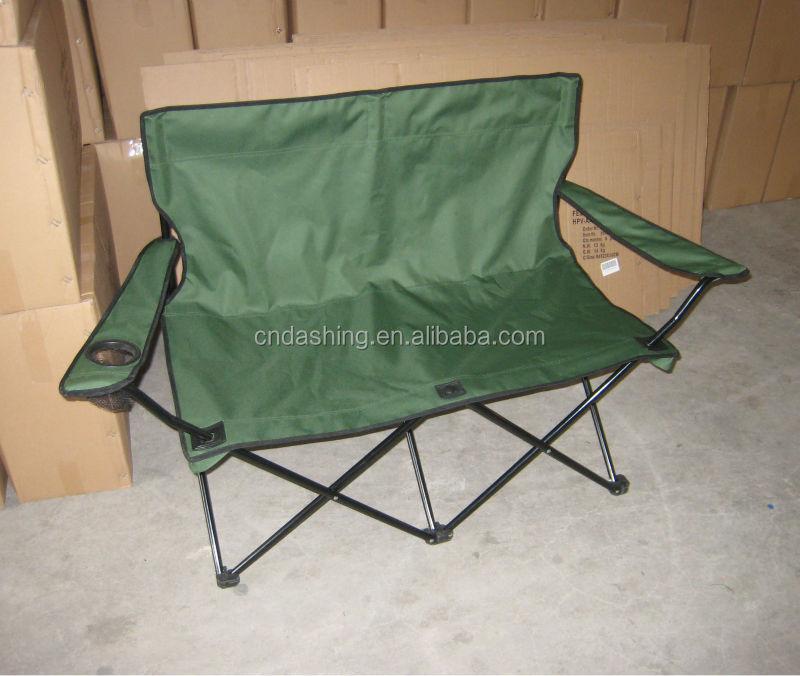 Folding Double Seat Beach Chair 2 Seat Camping Chair 2 Person Beach Chair B