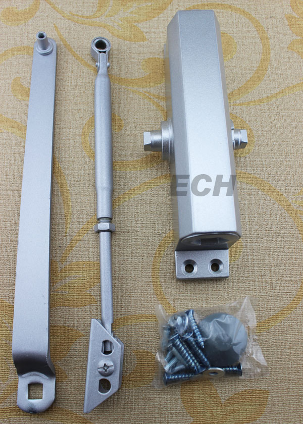 silver Aluminum alloy sliding door closer price