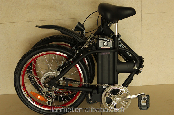 "Foldable e-bike with 20"" tyre, alloy frame ,easy to carry away"