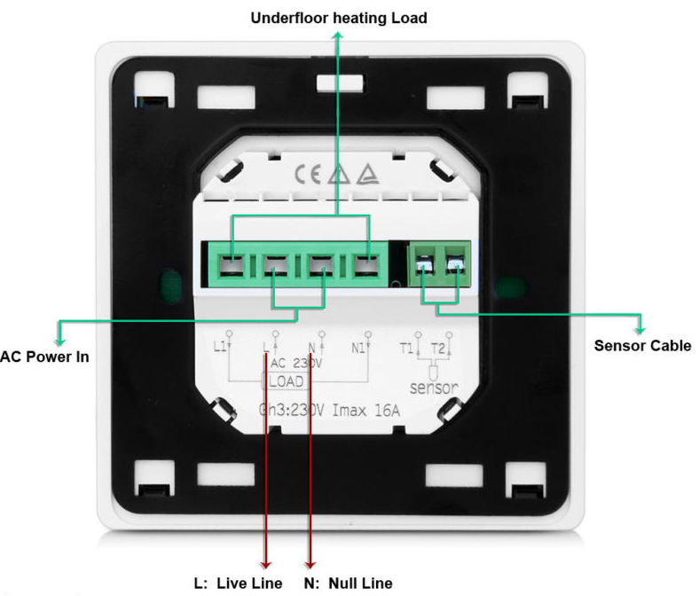 NEW floor heating thermostat 16A