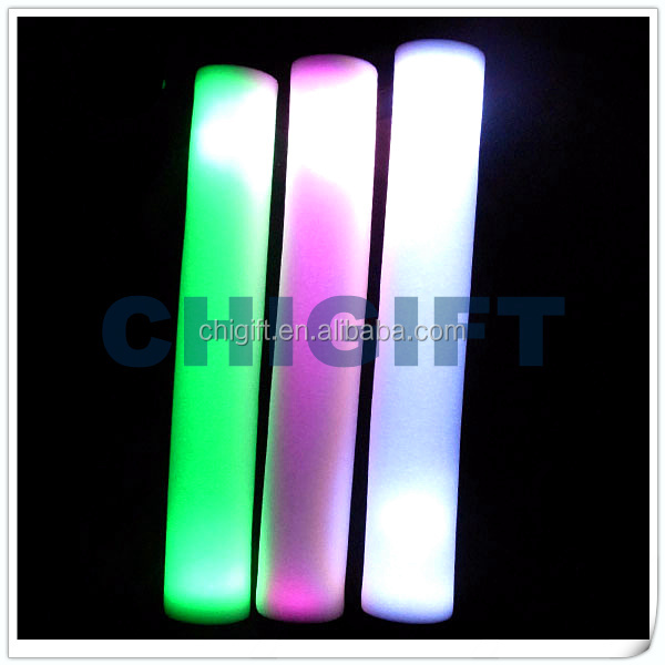 Battery Operated Colorful Lighted Foam Stick