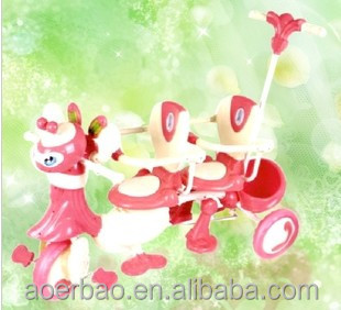 baby twins tricycle/ plastic baby tricycle