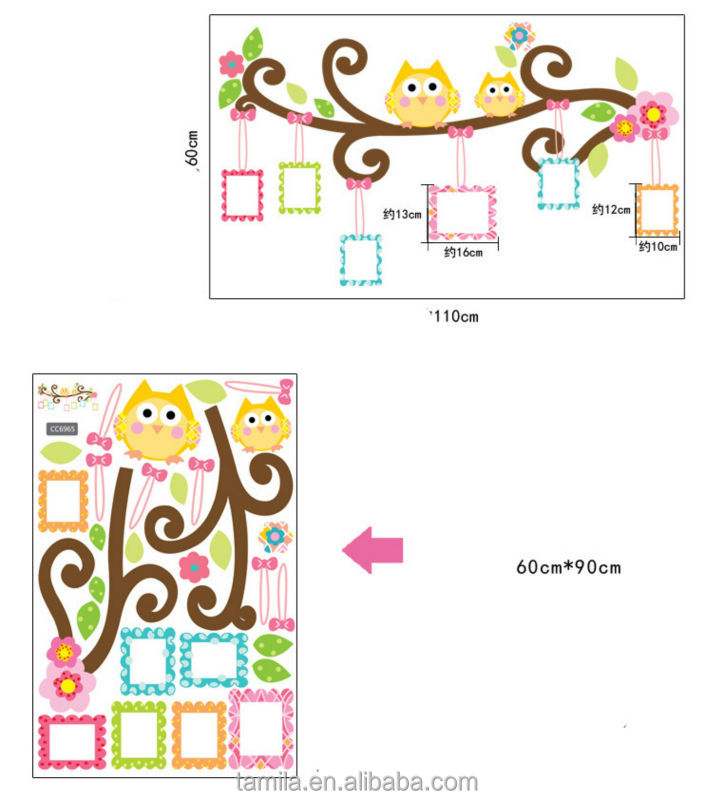 owl wall sticker frame photo wall stickers decorate the sitting room kids bedroom wall stickers
