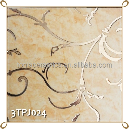 TONIA 300x300 Polished Golden Ceramic Decorative Ceramic Wall Tile ...