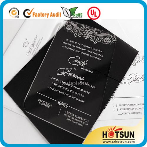 Customized Laser Cut Acrylic Or Plexiglass Wedding Invitations Cards Buy Pl