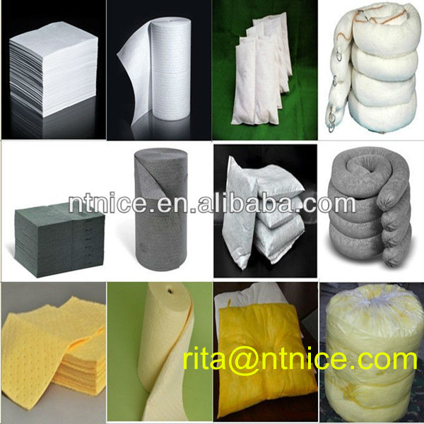 100% PP high absorbency chemical absorbent sock