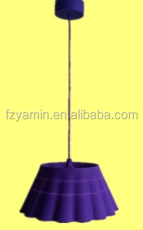 Pendent lamp E27 silvia Europe style yellow PVC PP