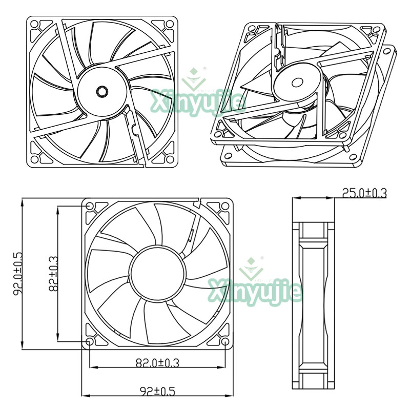 small computer exhaust fan 5v cpu water cooler 92mm pc