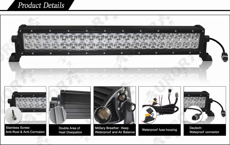 Automotive Parts 20inch off road led light bar Pick up high power
